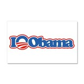 I Love Obama Car Magnet 12 x 20