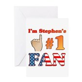 I'm Stephen's #1 Fan Greeting Card