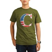 C stands for Colbert Organic Men's T-Shirt (dark)