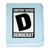 Content Rated Democrat baby blanket