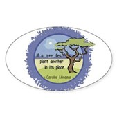 Linnaeus Quote Sticker (Oval)