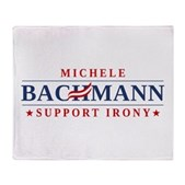 Anti-Bachmann Irony Stadium Blanket