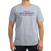 Anti-Bachmann Irony Men's Fitted T-Shirt (dark)