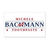 Funny Bachmann Toothpaste 22x14 Wall Peel