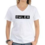 Owler Label Women's V-Neck T-Shirt