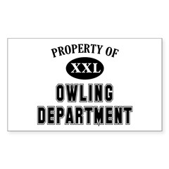 Property of Owling Dept Sticker (Rectangle)