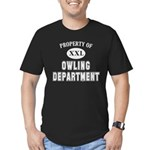 Property of Owling Dept Men's Fitted T-Shirt (dark)