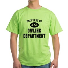 Property of Owling Dept Green T-Shirt