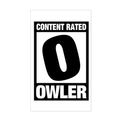 Content Rated Owler Sticker (Rectangle)
