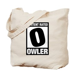 Content Rated Owler Tote Bag
