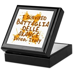 Ivrea Battle Of The Oranges Souvenirs Gifts Tees Keepsake Box