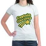 Captain Obvious Jr. Ringer T-Shirt
