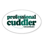 Professional Cuddler Oval Sticker