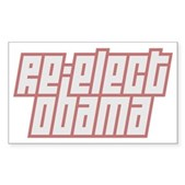 Re-Elect Obama Sticker (Rectangle)