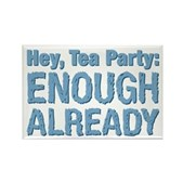 Hey, Tea Party Rectangle Magnet