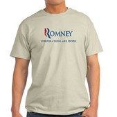 Anti-Romney Corporations Light T-Shirt