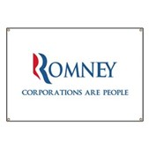 Anti-Romney Corporations Banner