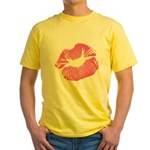 Big Pink Lips Yellow T-Shirt
