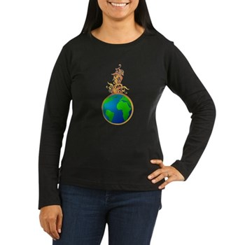 Blooming Earth Women's Long Sleeve Dark T-Shirt