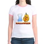 I Love Halloween Jr. Ringer T-Shirt