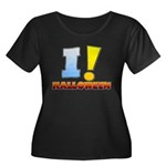 I ! Halloween Women's Plus Size Scoop Neck Dark T-Shirt