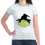 Happy Green Witch Jr. Ringer T-Shirt
