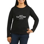 this is my bartender costume Women's Long Sleeve Dark T-Shirt