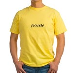 Minimal Princess Costume Yellow T-Shirt
