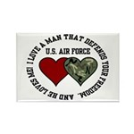 Air Force I love a man ... Rectangle Magnet (10 pa