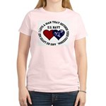 US Navy I love a man... Women's Pink T-Shirt