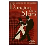 Distressed Retro DWTS Poster Large Poster