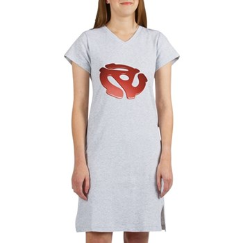 Red 3D 45 RPM Adapter Women's Nightshirt