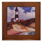 Montauk Lighthouse Framed Tile