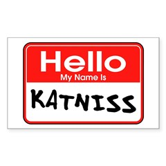 My Name is Katniss - Hunger Games fan t-shirts Sticker (Rectangle)