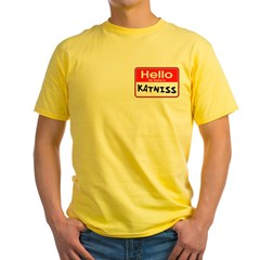 My Name is Katniss - Hunger Games fan t-shirts Yellow T-Shirt
