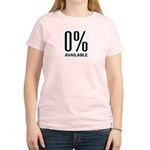 0% Available Women's Pink T-Shirt