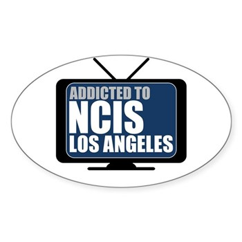 Addicted to NCIS: Los Angeles  Oval Sticker (Oval)