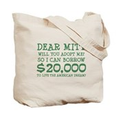 Mitt Will You Adopt Me? Tote Bag