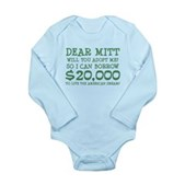 Mitt Will You Adopt Me? Long Sleeve Infant Bodysui