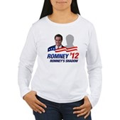 Anti-Romney Shadow Women's Long Sleeve T-Shirt