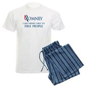 Anti-Romney: Fire People Men's Light Pajamas