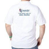 Anti-Romney: Fire People Golf Shirt