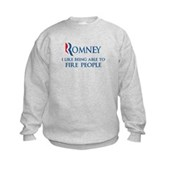Anti-Romney: Fire People Kids Sweatshirt
