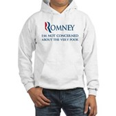 Anti-Romney: Very Poor Hooded Sweatshirt