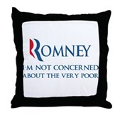 Anti-Romney: Very Poor Throw Pillow