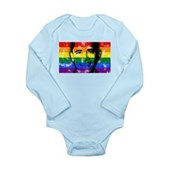 LGBT for Obama Long Sleeve Infant Bodysuit