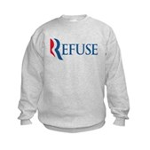 Anti-Romney Refuse Kids Sweatshirt