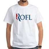 Anti-Romney ROFL White T-Shirt
