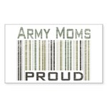 Military Army Moms Proud Sticker (Rectangular)