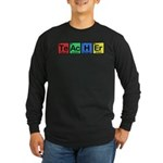 Teacher made of Elements colors Long Sleeve Dark T-Shirt